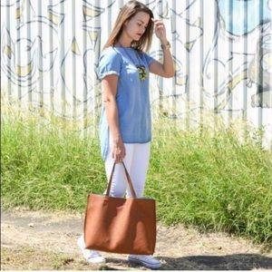 bc5346c088 Nordstrom Bags - Nordstrom reversible vegan leather tote + wristlet